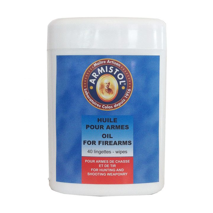 Cleaning wipes for firearms armistol